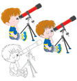 Little astronomer vector image vector image