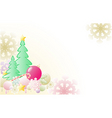 Christmas background with firs vector image