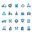 Roadside Assistance and tow icons vector image