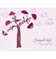 love tree under umbrellas vector image vector image