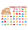 symbols city world vector image vector image