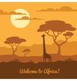 African landscape vector image