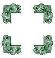 Green inverse corners 001 vector image