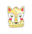 lovely fox colorful cloth patch applique for vector image