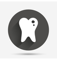 Caries tooth sign icon Dental care symbol vector image