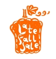 Pumpkin fall sale vector image