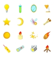 Sources of light icons set cartoon style vector image vector image