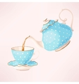 Teapot and teacup vector image vector image