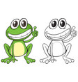 animal outline for funny frog vector image