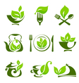 Organic food design elements vector image