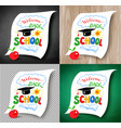 welcome back to school lettering vector image