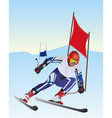 athlete skier vector image vector image