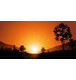 Romantic Sunset vector image