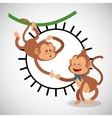 Animal design monkey icon Isolated vector image