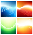 Vivid backgrounds of streams vector image