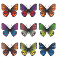 Butterflies Set2 vector image