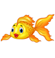 Cartoon Goldfish on Transparent Background vector image