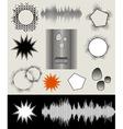 comic speech bubbles set vector image