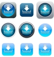 Download blue app icons vector image
