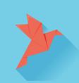 flat origami paper bird vector image