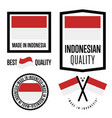 indonesia quality label set for goods vector image