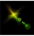 Light flare green effect vector image