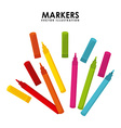 markers design vector image