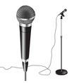 Microphone Stand vector image