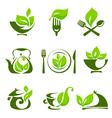 Organic food design elements vector image