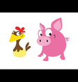 pig and hen vector image
