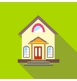 Small cute house icon flat style vector image