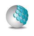 Sphere 3d design vector image