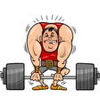 weightlifting sportsman cartoon vector image