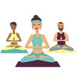 yoga class vector image vector image