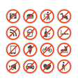 Urban signs collection vector image vector image