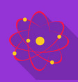 atom icon flat single education icon from the big vector image