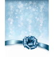 Holiday background with gift glossy bows and vector image