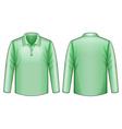 Green shirt vector image