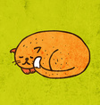Sleeping Cat Cartoon vector image