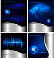 technology backgrounds vector image vector image