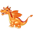 Dragon sitting with a happy face vector image