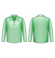 Green shirt vector image