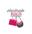 handbag shop logo vector image