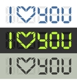 I love you Nerd style feelings confession vector image