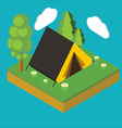 Iisometric camp flat 3d isometric pixel art vector image