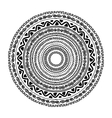 Round ornament design ethnic style vector image
