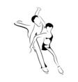 skating couple vector image