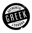 Authentic greek product stamp vector image