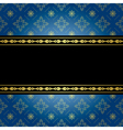 blue and black vintage background vector image vector image