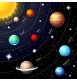 Colorful solar system vector image